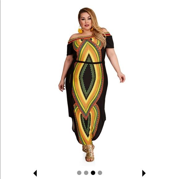 448d0040e75 Ashley Stewart Dresses   Skirts - Ashley Stewart dashiki off shoulder dress  22 24